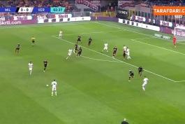 خلاصه بازی میلان 3-2 هلاس ورونا (سری آ - 2021/22)