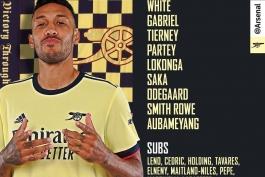 آرسنال - برایتون - لیگ برتر انگلیس - ترکیب رسمی آرسنال