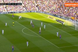 گل زیبای داوید آلابا به بارسلونا (بارسلونا 0-1 رئال مادرید)