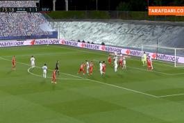 گل ایوان راکیتیچ به رئال مادرید از روی نقطه پنالتی (رئال مادرید 1-2 سویا)