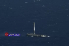 فرود موشک فالکون9 در وسط اقیانوس...برگامممم:/
