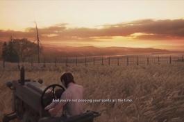 صحنه ای زیبا و آرامش بخش از بازی TLOU 2
