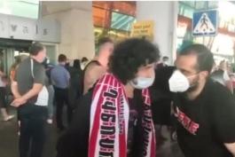 استقبال هواداران تیم ملی فوتبال ارمنستان از سه بازیکن شاغل در لیگ برتر روسیه در فرودگاه ایروان