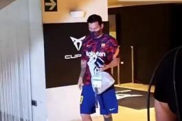ورود مسی به نیو کمپ اینبار تنها !