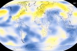 گرمایش جهانی - دمای زمین از 1880 میلادی تا 2017