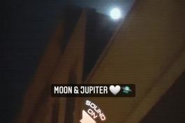 کنار هم قرار گرفتن ماه و مشتری (آسمان ایران) از صحنه هایی که دل ما عشق فضانوردی ها رو آب میکنه + به همراه موزیک (فیلم از خودم) 🤍🛸