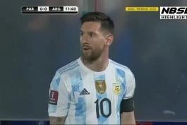 2  پاس زیبای مسی مقابل پاراگوئه که بازیکنا خراب کردن.