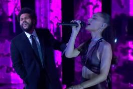 اجرای زنده آهنگ save your tears از The Weeknd و Ariana Grande
