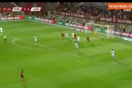💥برگردون تماشایی کریستیانو رونالدو در بازی امشب که با بدشانسی و سوپر سیو دروازه بان گل نشد💥