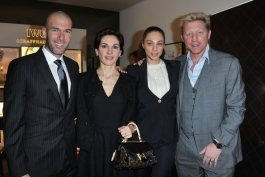 Zinedine Zidane , Boris Becker , Veronique Zidane , Sharlely Becker