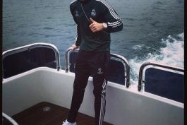 بدون شرح؛ کریستیانو رونالدو روی آب!