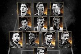 تیم منتخب دوم سال 2015 از نگاه فیفا (عکس)