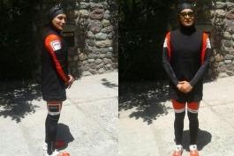 ورزش سه گانه - بانوان ایران - پوشش اسلامی