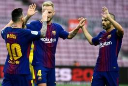 Lionel Messi - Andres Iniesta - Ivan Rakitic - La Liga - بارسلونا - FC Barcelona