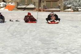 ویدیو؛ برف بازی مسی به همراه خانواده