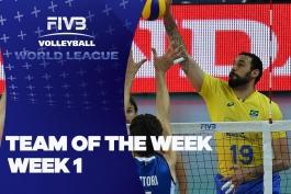 والیبال - تیم منتخب هفته