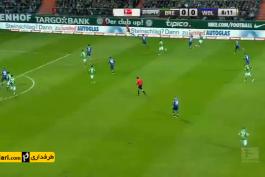 خلاصه بازی وردربرمن ۳-۵ وولفسبورگ