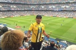 حضور هوادار سپاهان در ورزشگاه برنابئو (عکس)