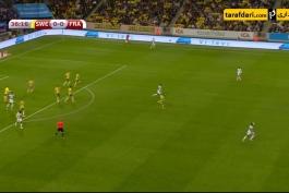 گل تماشایی اولیویه ژیرو به سوئد (سوئد 0-1 فرانسه)