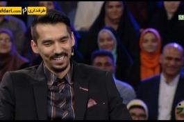 ویدیو؛ مکالمه تلفنی جناب خان با فرهاد قائمی و مجتبی میرزاجانپور در برنامه خندوانه