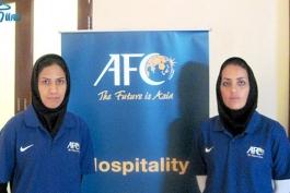 داوران زن ایرانی در مسابقات فوتبال مقدماتی المپیک سوت می زنند