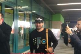 مدافع لیون برای امضای قرارداد با لاتزیو، وارد رم شد (عکس)