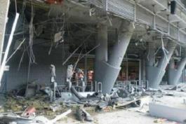 اصابت دو گلوله خمپاره به ورزشگاه شاختار دونتسک