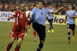 پلی آف جام جهانی؛ اردن 0 - 5 اروگوئه؛ شکست تحقیر آمیز نماینده آسیا