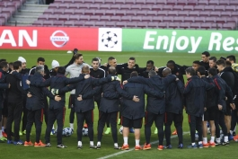 گزارش تصویری - آخرین تمرین پاری سن ژرمن - بارسلونا