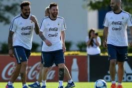 گزارش تصویری - تمرین تیم ملی آرژانتین - شیلی