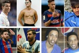 گزارش تصویری - 15 بازیکن مشهور و بدل هایشان
