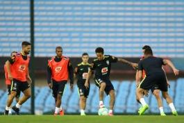 گزارش تصویری - تمرین تیم ملی برزیل - اروگوئه