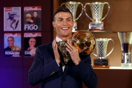 گزارش تصویری - کریستیانو رونالدو و چهارمین توپ طلایش
