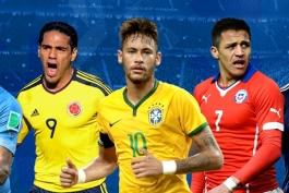 مقدماتی جام جهانی 2018 - قاره آمریکای جنوبی - دیدار اروگوئه و برزیل - بازی آرژانتین و شیلی
