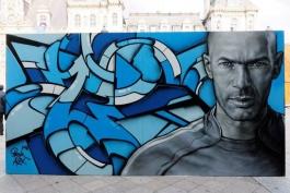 گزارش تصویری؛ نقاشی ستارگان فوتبال اروپا روی دیوار در پاریس