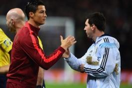 گزارش تصویری: تقابل کریستیانو رونالدو و لیونل مسی در الدترافورد