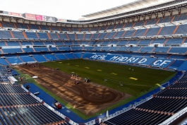 گزارش تصویری؛ مراحل تعویض کلی چمن ورزشگاه سانتیاگو برنابئو