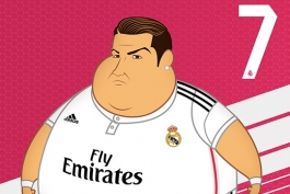گزارش تصویری: هنرمند کلمبیایی مدل سنگین وزن ستاره های رئال مادرید را به تصویر کشید