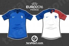 یورو 2016؛ اینفوگرافیک اختصاصی طرفداری، تمام لباس های فرانسوی ها در تاریخ یورو
