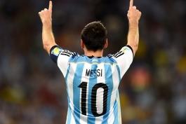 مسی بهترین بازیکن میدان مقابل بوسنی