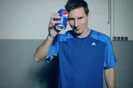 لیونل مسی در کلیپ تبلیغاتی پپسی (عکس)