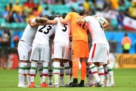 رتبه بازیکنان ایران در پایان مرحله گروهی جام جهانی 2014