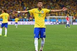 نیمار بهترین بازیکن دیدار برزیل - کرواسی