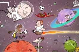 کاریکاتور روز: پیش بینی بلاتر در مورد برگزاری مسابقات بین سیارات