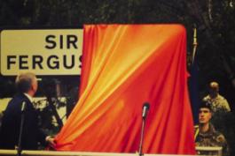 خیابان سرالکس فرگوسن؛ مرد 71 ساله در منچستر صاحب خیابان شد