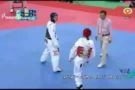 ویدئو بازی های آسیایی (تکواندو)؛ صعود عاشورزاده به فینال