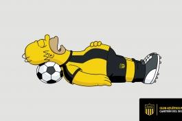 هواداران ویژه تولد باشگاه پنارول؛ بارت و هومر سیمپسون!