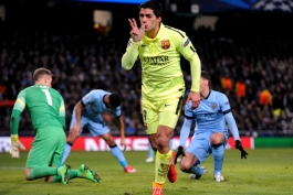 گل های بازی منچسترسیتی 1 - 2 بارسلونا