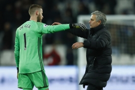 Jose Mourinho - David De Gea - Manchester United - منچستر یونایتد