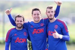 Ander Herrera - David de Gea -Mata - منچستر یونایتد - Manchester United